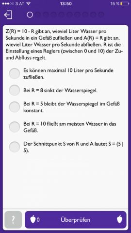 Komplexere Multiple-Choice-Frage